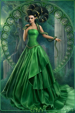 Los envidiosos siempres se ponen verdes de envidia